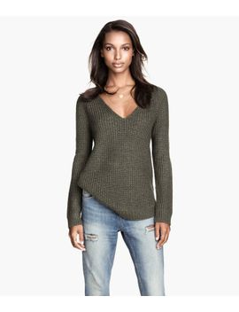 rib-knit-sweater by h&m