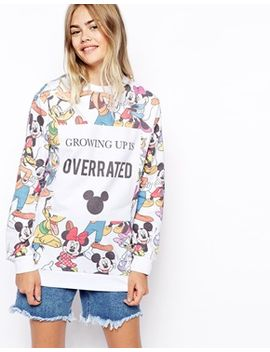 asos-sweatshirt-with-disney-growing-up-is-overrated-print by asos-collection