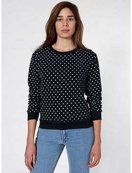 unisex-polka-dot-drop-shoulder-sweater by american-apparel