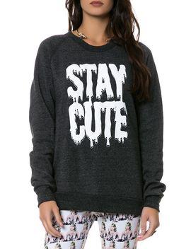 the-logo-crewneck-sweatshirt-in-eco-black by stay-cute