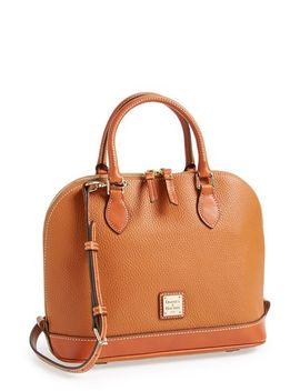pebble-grain-collection-water-repellent-leather-zip-satchel by dooney-&-bourke