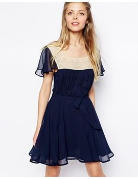 asos-skater-dress-with-lace-trim-square-neck by asos-collection