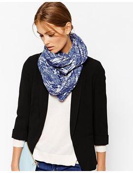 pieces-blue-triangular-zig-zag-tube-scarf by pieces