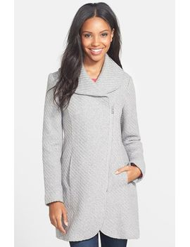 braided-shawl-collar-coat by jessica-simpson