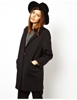 asos-cocoon-coat-in-scuba by asos-collection