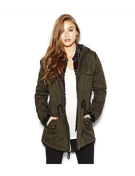 the-utility-parka-with-faux-leather by garage