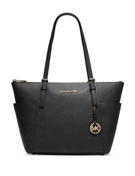 jet-set-top-zip-saffiano-tote-bag,-black by michael-michael-kors