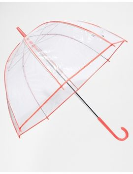 totes-pvc-dome-with-fluro-pink-binding-umbrella by asos-brand