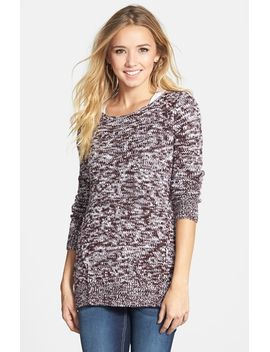 marled-forward-seam-sweater by bp