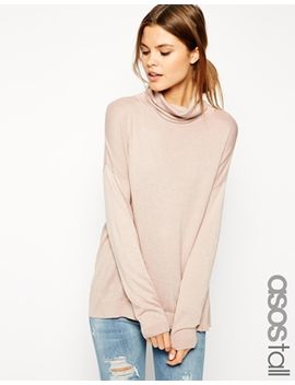 asos-tall-jumper-with-roll-neck-in-fine-knit by asos-tall