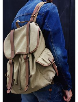 contrast-canvas-backpack by mango