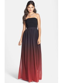 isabelle-ruched-ombré-chiffon-gown by erin-erin-fetherston