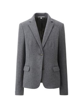 women-wool-blended-flannel-jacket by uniqlo