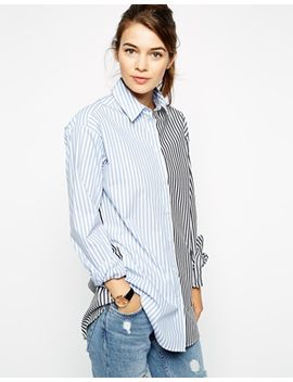 asos-multi-stripe-boyfriend-shirt by asos-collection