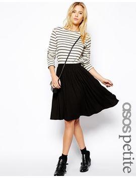 asos-petite-midi-skater-skirt by asos-petite
