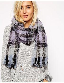 blurred-tartan-blanket-scarf by river-island