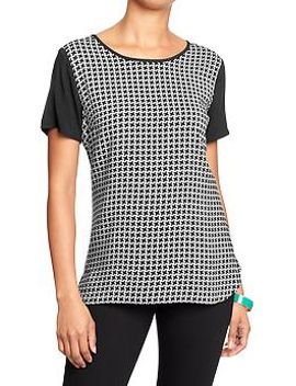 womens-houndstooth-tops by old-navy