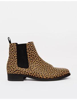 monki-selina-leopard-print-chelsea-boots by monki