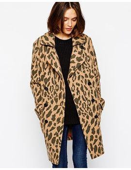 ofrieda-coat-in-leopard-print-with-contrast-collar by boss-orange