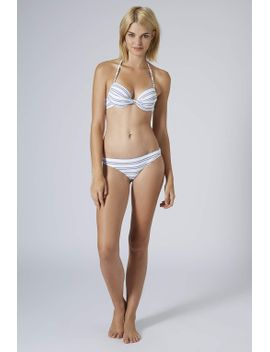 textured-stripe-plunge-bikini-top-and-pants by topshop