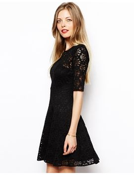 asos-skater-dress-in-daisy-lace by asos-collection