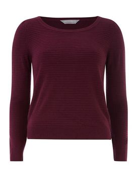 petite-stripe-textured-jumper by dorothy-perkins