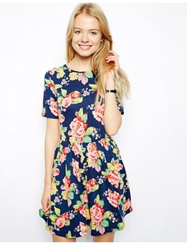 asos-skater-dress-in-pretty-floral-print by asos-collection