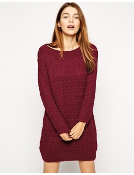 asos-slouchy-sweater-dress-in-off-the-shoulder-shape by asos-collection