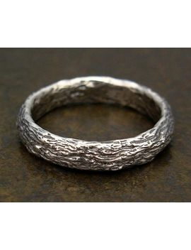 tree-bark-ring---sterling-silver-nature-band---size-2,-25,-size-3,-35,-size-4,-45,-size-5,-55,-size-6,-65,-size-7,-75,-size-8,-85 by marcusberknerjewelry