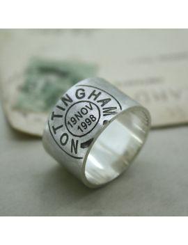 mens-personalised-postmark-ring by nicolacrawfordshop