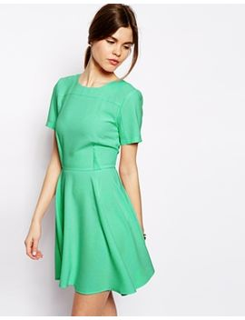 asos-crepe-skater-dress-with-seaming by asos-collection