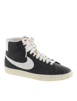 womens-nike®-blazer-mid-vintage-sneakers-in-black by womens-nike