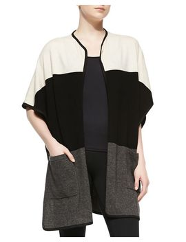 cashmere-colorblock-open-cardigan by in-cashmere