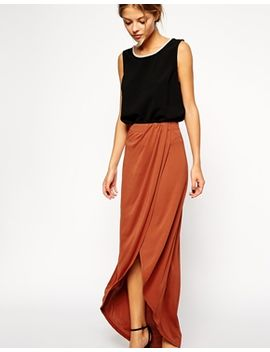 asos-wrap-maxi-skirt-in-crepe by asos-collection