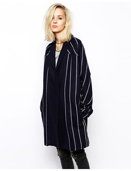 religion-striped-wool-cocoon-coat by religion