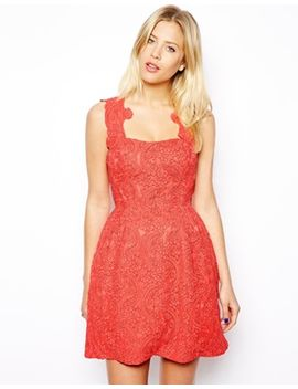 asos-structured-lace-prom-dress by asos-collection