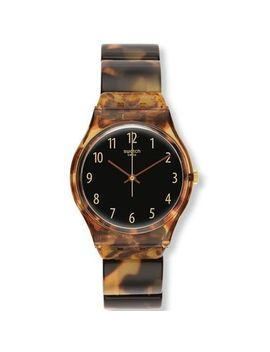 swatch-ecaille-black-dial-brown-tortoise-shell-plastic-ladies-watch-gc113b by swatch