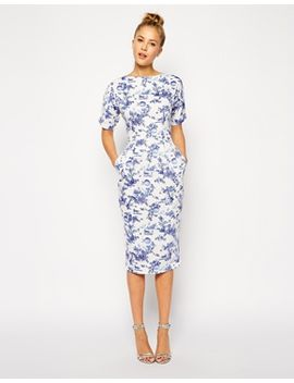 asos-wiggle-dress-in-summer-days-print by asos-collection