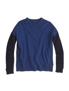 lambswool-zip-sweater-in-colorblock by jcrew