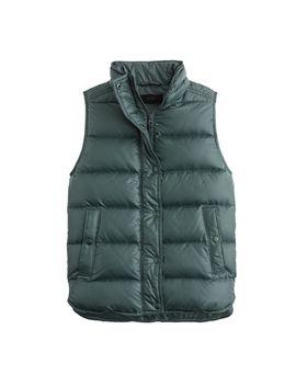 shiny-puffer-down-vest by jcrew