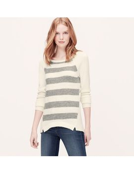stripeblock-sweater-tunic by loft