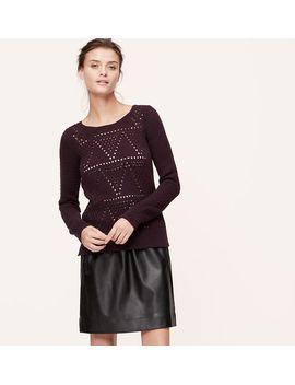 geo-stitch-sweater by loft
