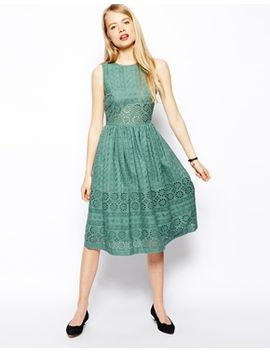 asos-premium-midi-skater-dress-in-broderie by asos-collection