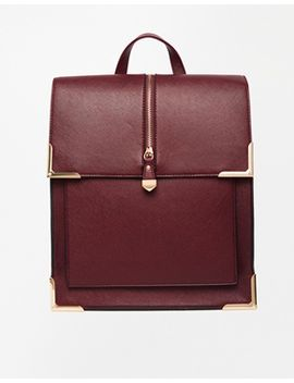 new-look-box-zip-front-metal-trim-backpack by new-look