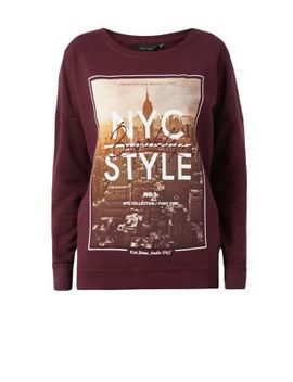 burgundy-nyc-style-sweater by new-look