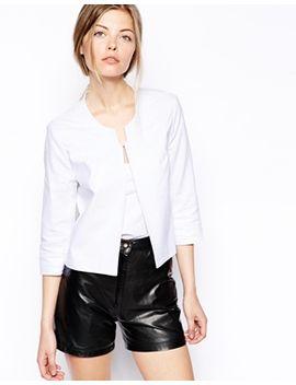 asos-linen-cropped-blazer by asos-collection