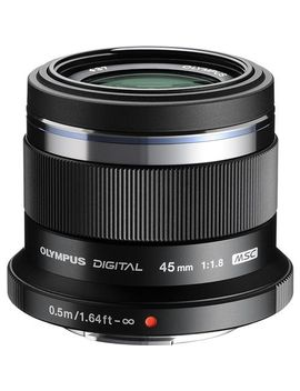 mzuiko-45mm-f_18-portrait-lens-for-most-micro-four-thirds-cameras---black by olympus