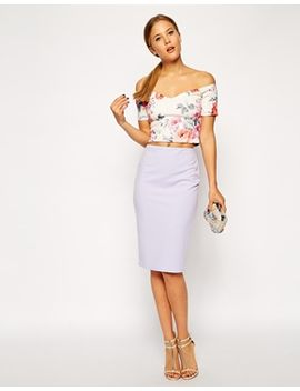 asos-pencil-skirt-in-scuba by asos-collection