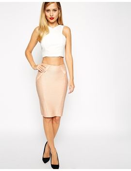 asos-midi-pencil-skirt-in-bandage-rib by asos-collection
