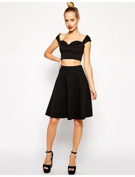 asos-circle-skirt-in-ponte by asos-collection